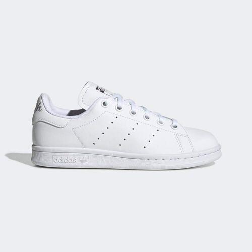 adidas Stan Smith Schoenen  - Kinderen - Cloud White / Cloud White / Silver Metallic - Grootte: 35 1/2,36,36 2/3,37 1/3,38,38 2/3