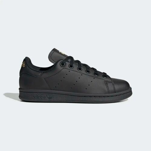 adidas Stan Smith Schoenen  - Kinderen - Core Black / Core Black / Gold Metallic - Grootte: 35 1/2,36,38,38 2/3