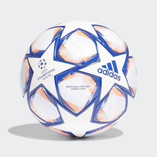 adidas UCL Finale 20 Wedstrijdbal  - Unisex - White / Royal Blue / Signal Coral / Sky Tint - Grootte: 4,5