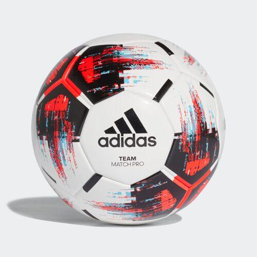 adidas Team Wedstrijdbal  - Unisex - White / Black / Solar Red / Bright Cyan - Grootte: 5