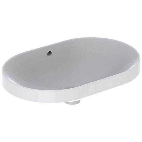 Geberit VariForm Einbauwaschtisch, elliptisch  B: 60 T: 40 H: 17,8 cm weiß mit keratec 500.729.00.2