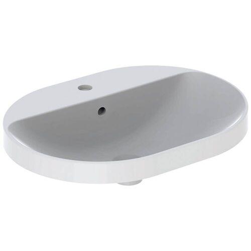 Geberit VariForm Einbauwaschtisch, elliptisch, mit Hahnlochbank  B: 60 T: 45 H: 17,8 cm weiß mit keratec 500.733.00.2