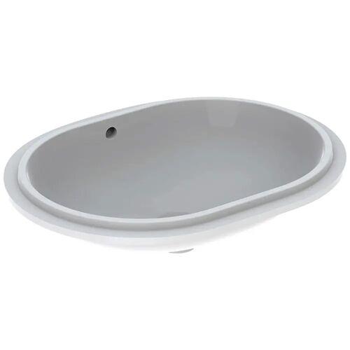 Geberit VariForm Unterbauwaschtisch, elliptisch  B: 61 T: 46 H: 18,1 cm weiß mit keratec 500.757.00.2