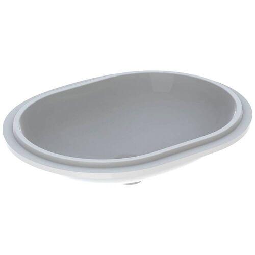 Geberit VariForm Unterbauwaschtisch, elliptisch  B: 61 T: 46 H: 18,1 cm weiß mit keratec 500.759.00.2