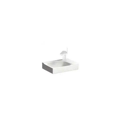 Geberit iCon Aufsatzwaschtisch 50 cm mit Dekoschale links iCon B: 50 T: 48,5 H: 15,5 cm weiß 124650000