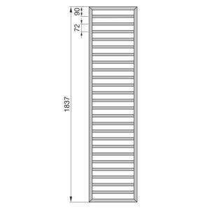 Zehnder Subway SUB-180-060 Badheizkörper 60 x 183,7 cm Subway B: 60 H: 183,7 cm weiß RAL 9016 ZS300360B100000