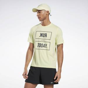 Reebok One Series Running ACTIVCHILL T-shirt  - Lemon Glow - Size: Extra Small