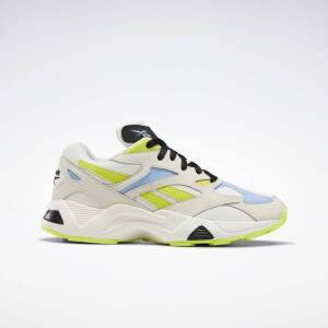 Reebok Aztrek 96 Schoenen  - Stucco / Fluid Blue / Semi Solar Yellow - Size: 36,37.5,38.5,40,40.5,41,42