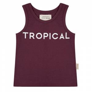 Little Indians Tanktop Tropical - Eggplant  - Size: 3-4 years