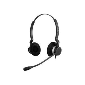 Jabra biz 2300 qd duo hoofdtelefoon op oor