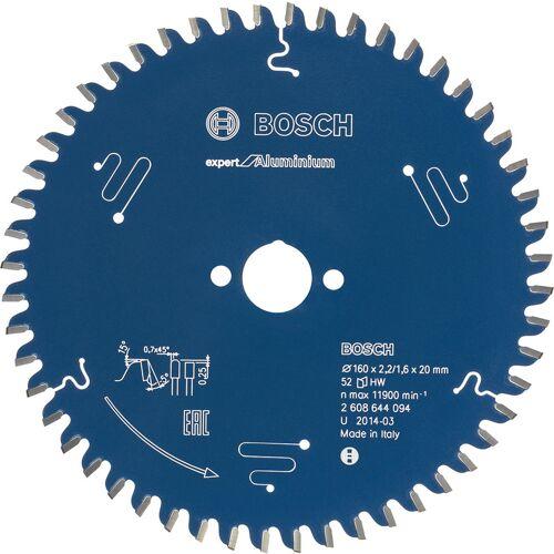 Bosch cirkelzaagblad Expert for Aluminium 160x20x2,2mm 52T