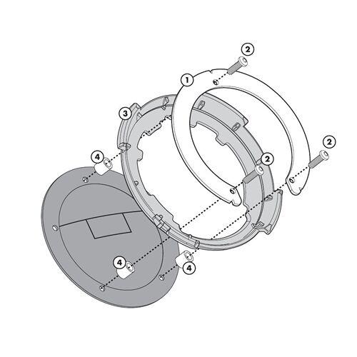 GIVI Tanklock bevestigingen, Motorspecifieke bagage, BF32