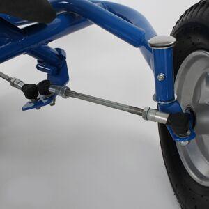 tectake Go Cart 2-zitter - blauw