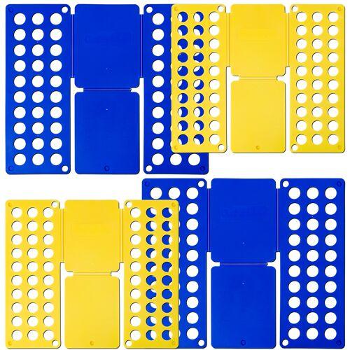 tectake 2x Vouwplank 2-delige set Grote 59 x 70 cm Kleine 36 x 42 cm - blauw