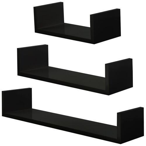 tectake 3 muurplanken Luisa - zwart
