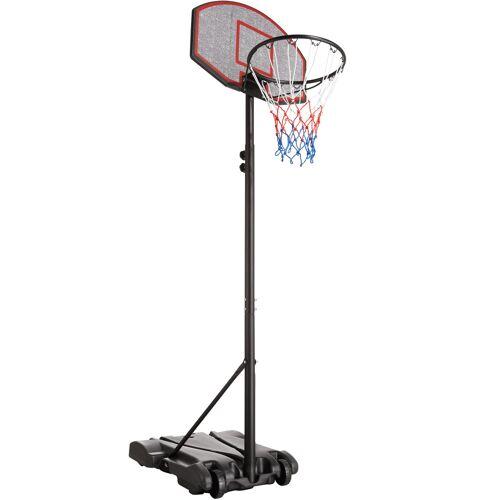 tectake Basketbalkorf met standaard Harlem - zwart