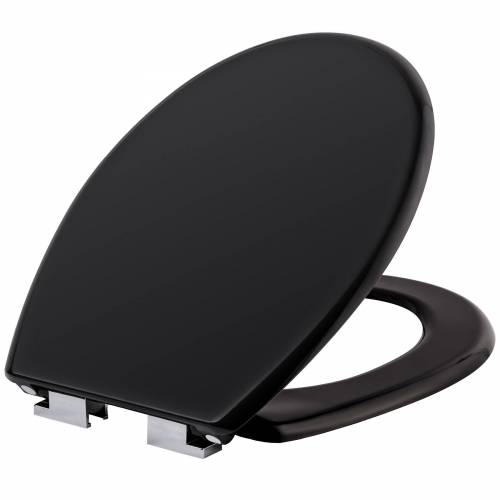 tectake Toiletbril met motief - zwart