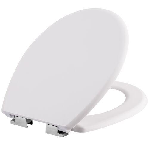 tectake Toiletbril met motief - wit