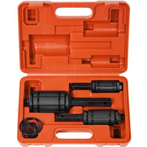 tectake Uitlaatpijp uitzetter set ø 30 - 83 mm - rood