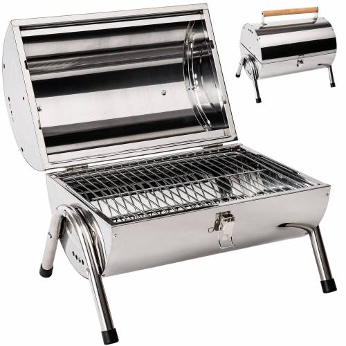 tectake BBQ grill in roestvrij staal - zilver