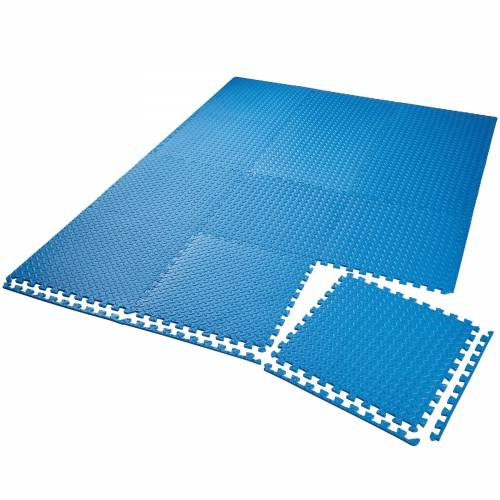 tectake Set van 12 beschermingsmatten - blauw