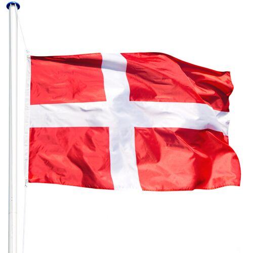 tectake Aluminium vlaggenmast - Denemarken