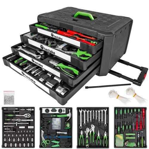 tectake Gereedschapskoffer 899 onderdelen met 4 laden - zwart