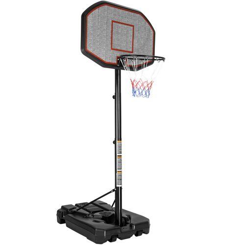 tectake Basketbalkorf met standaard - zwart