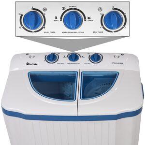 tectake Mini wasmachine - Wassen en centrifugeren - tot 4,5kg wasgoed - wit