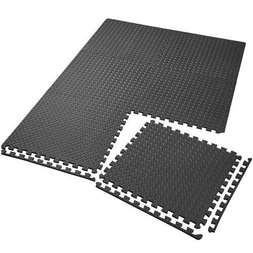 tectake Set van 6 beschermingsmatten - zwart