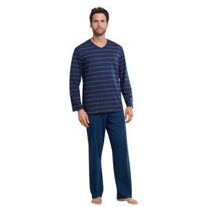 Schiesser Schiesser Pyjama 159622 heren blauw/rood