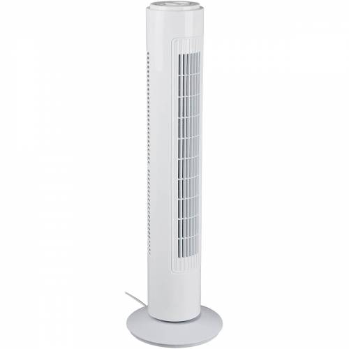 BES LED Ventilator - Trion Malon - Torenventilator - Staand - Rond - Mat Wit - Kunststof