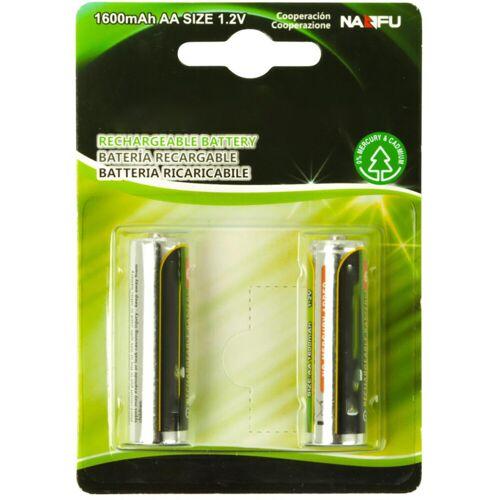 BES LED Batterij - Aigi Cinus - AA/HR06 - Oplaadbaar - 12V - Alkaline Batterijen - 1600 mAh - 2 Stuks