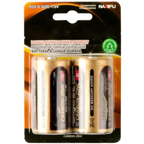 BES LED Batterij - Aigi Dolu - R20/D - 1.5V - Lithium Batterijen - 2 Stuks