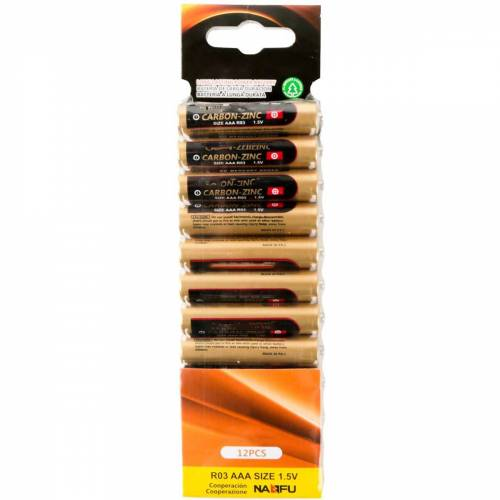 BES LED Batterij - Aigi Zum - AAA/LR03 - 1.5V - Alkaline Batterijen - 12 Stuks