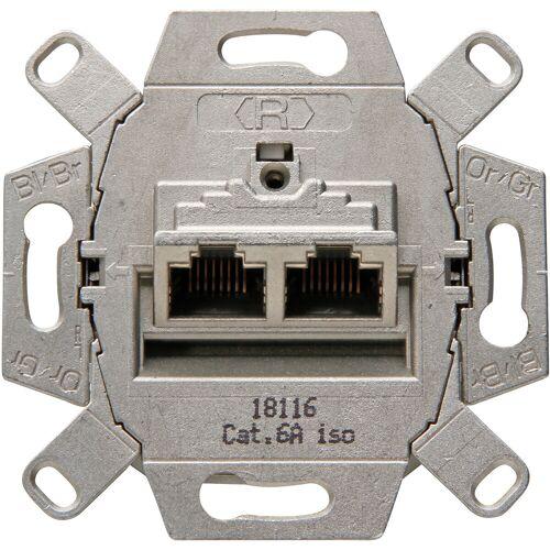 KOPP - UTP RJ45 Stopcontact - Wandcontactdoos - Inbouw - 2-voudig UTP CAT6