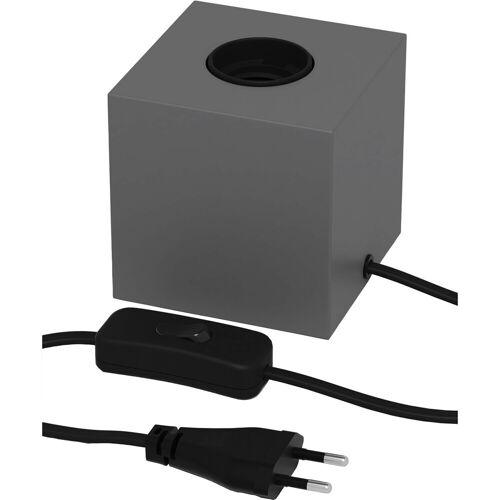 CALEX - LED Tafellamp - Tafelverlichting - Raho - E27 Fitting - Vierkant - Beton - Kunststof