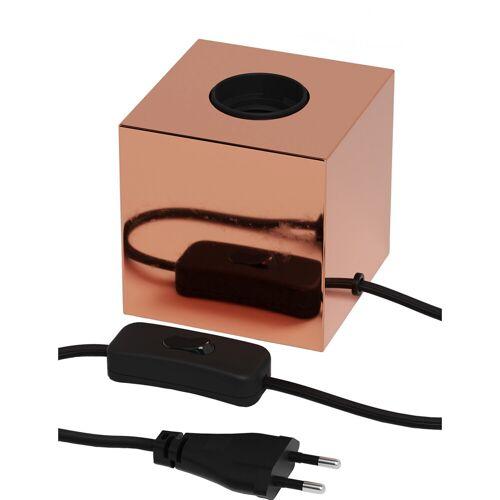 CALEX - LED Tafellamp - Tafelverlichting - Raho - E27 Fitting - Vierkant - Glans Koper- Metaal