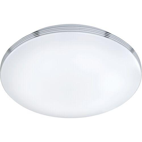 BES LED LED Plafondlamp - Trion Apity - Opbouw Rond 18W - Spatwaterdicht IP44 - Warm Wit 3000K - Glans Chroom - Aluminium