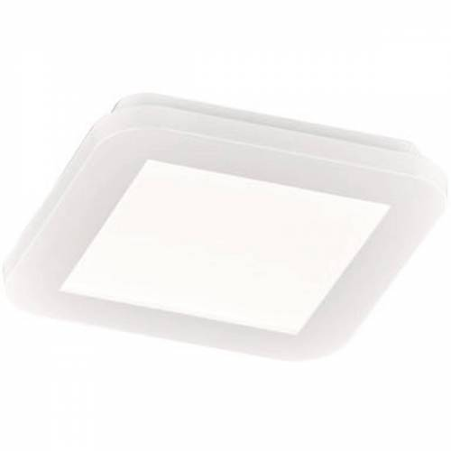 BES LED LED Plafondlamp - Trion Camy - Opbouw Vierkant 10W - Spatwaterdicht IP44 - Dimbaar - Warm Wit 3000K - Mat Wit