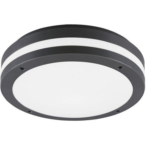 BES LED LED Plafondlamp - Trion Keraly - Opbouw Rond - Waterdicht - 12W - Warm Wit 3000K - Mat Antraciet - Kunststof