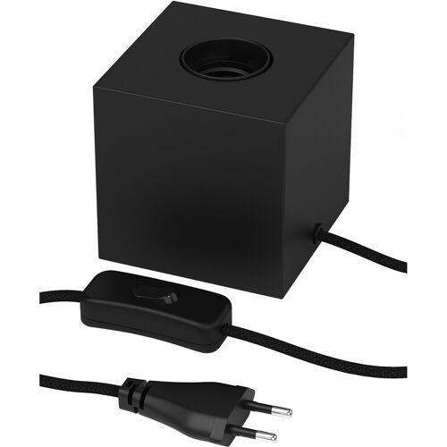 CALEX - LED Tafellamp - Tafelverlichting - Cita - E27 Fitting - Vierkant - Mat Zwart - Kunststof