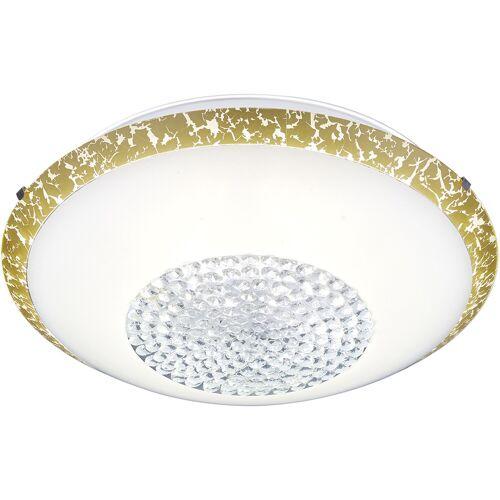 BES LED LED Plafondlamp - Plafondverlichting - Trion Camaso - 20W - Warm Wit 3000K - Rond - Mat Wit - Glas