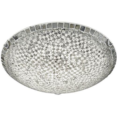 BES LED LED Plafondlamp - Plafondverlichting - Trion Tomun - 20W - Warm Wit 3000K - Rond - Mat Zilver - Glas