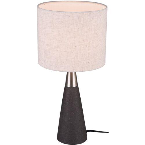 BES LED LED Tafellamp - Tafelverlichting - Trion Menpa - E27 Fitting - Rond - Beton - Beton