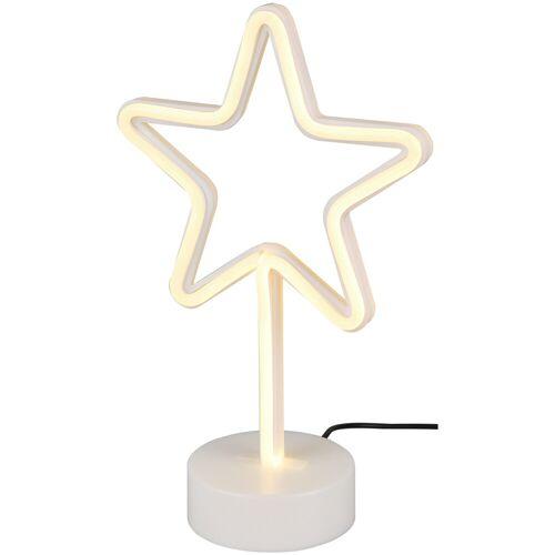 BES LED LED Tafellamp - Tafelverlichting - Trion Smilo - 1W - Rond - Mat Wit - Kunststof