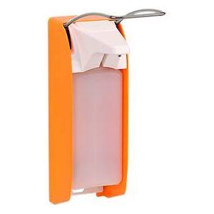 zeep- en desinfectiedispenser Ingo-man plus, 1000 ml, inclusief lege fles, helder oranje