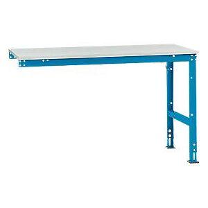 Manuflex aanbouwtafel UNIVERSAL Standaard, 1500 x 800 mm, melamine lichtgrijs, lichtblauw