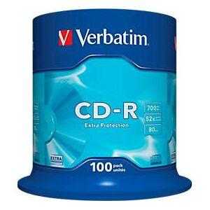 Verbatim CD-R, tot 52x, 700 MB/ 80 min, spindel met 100 stuks