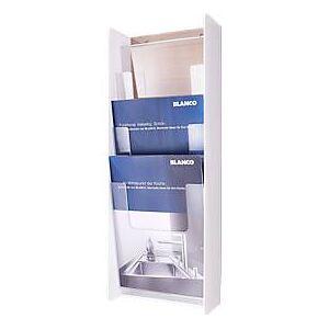 3-voudige wandhouder voor A4-folders, wit